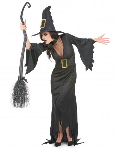 Costume da strega con fibbie per donna-1