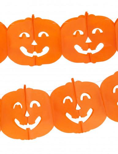 Ghirlanda di carta zucca - Halloween-1