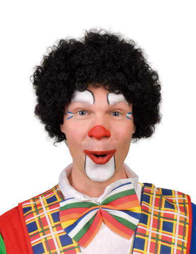 Parrucca afro clown nera adulto