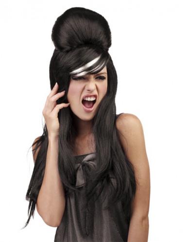 Parrucca pop star nera adulto per donna