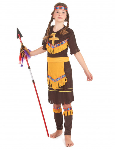 Costume indiana gialla e marrone bambina