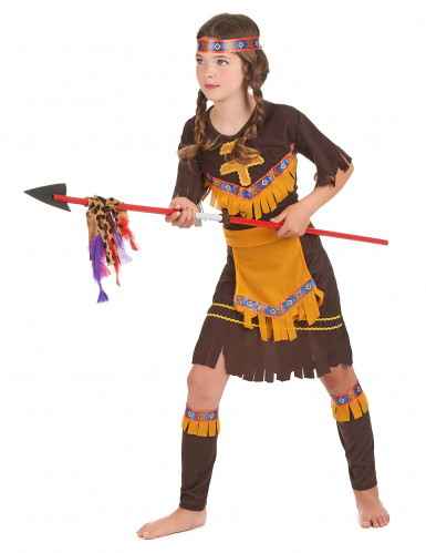 Costume indiana gialla e marrone bambina-1