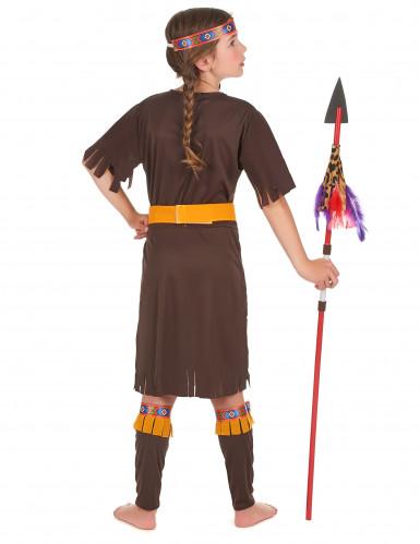 Costume indiana gialla e marrone bambina-2