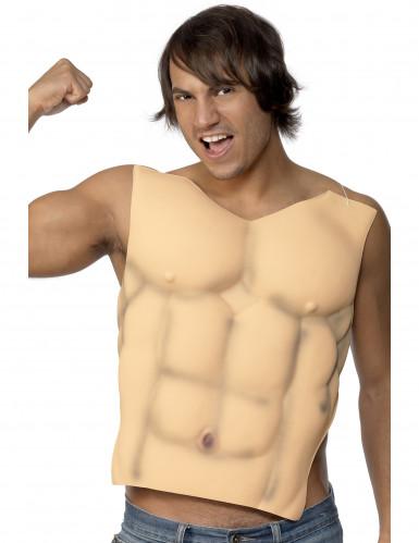 Finto torace muscoloso adulto