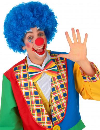 Parrucca afro disco clown blu confort adulto-1