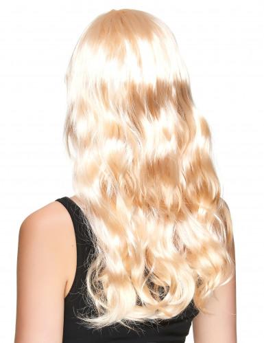 Parrucca bionda lunga donna-1