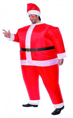 Costume Babbo Natale gonfiabile uomo