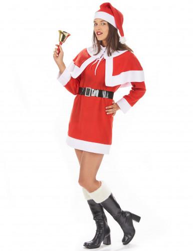 Costume da Mamma Natale corto per donna-1
