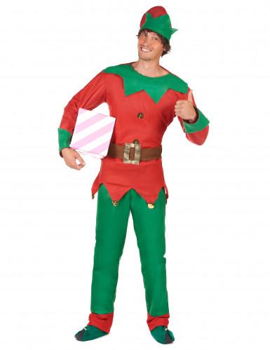 Costume elfo del nord per uomo Natale