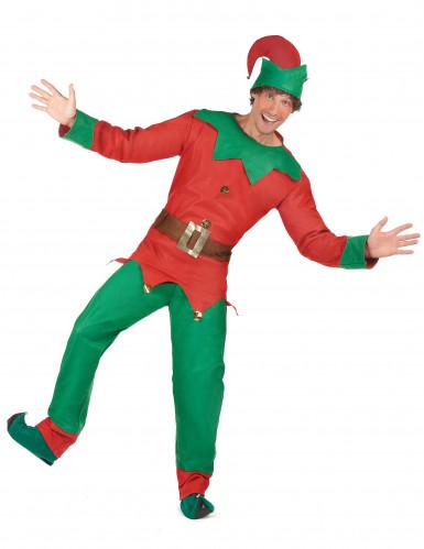 Costume elfo del nord per uomo Natale-1