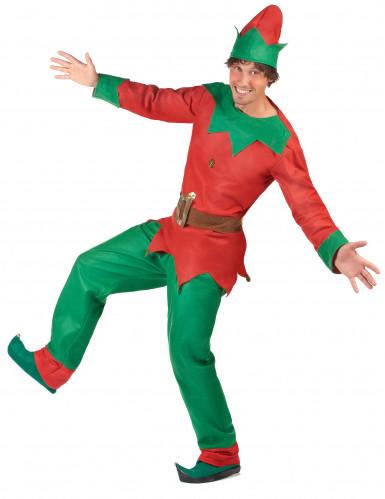 Costume elfo del nord per uomo Natale-2