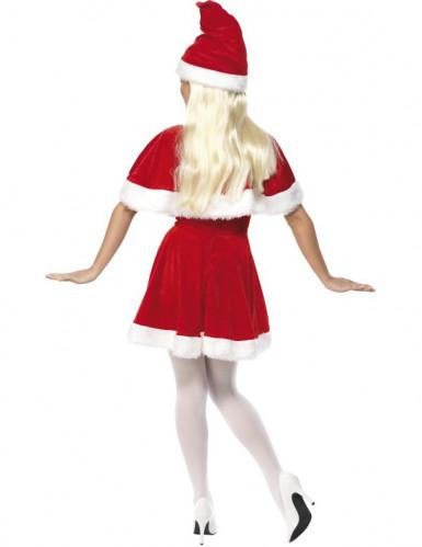 Costume Mamma Natale con mantellina per donna-1