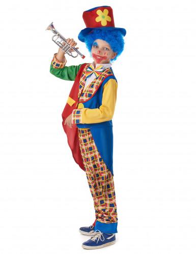 Costume da clown giacca bicolore per bambino-1