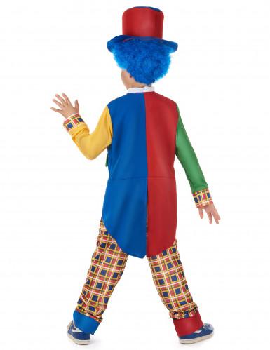 Costume da clown giacca bicolore per bambino-2