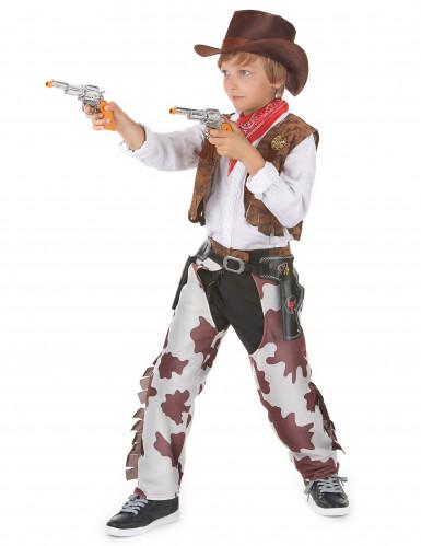 Costume cowboy temerario lusso bambino-1