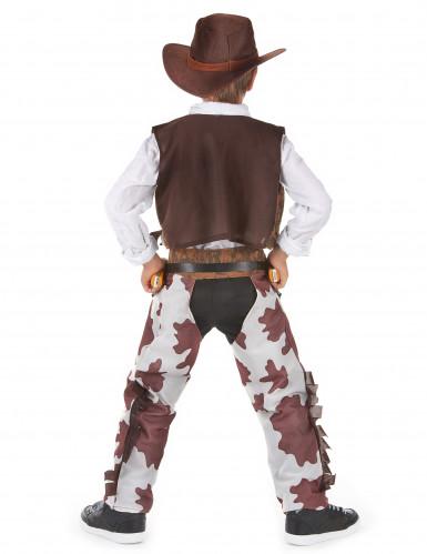 Costume cowboy temerario lusso bambino-2
