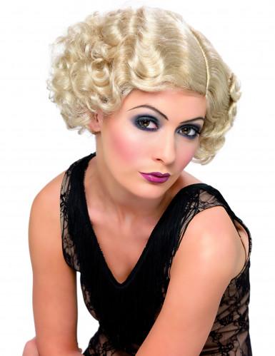 Parrucca attrice anni'20 bionda donna