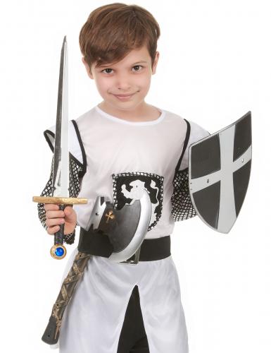 Scudo, spada e ascia da cavaliere medievale bambino-1