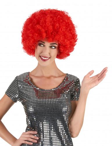 Parrucca rossa afro/clown/disco adulto