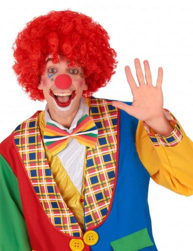 Parrucca rossa afro/clown/disco adulto-1