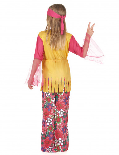 Costume hippie multicolore ragazza-2