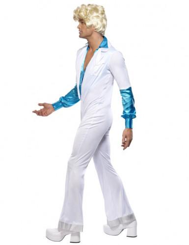 Costume tuta bianca disco uomo-3
