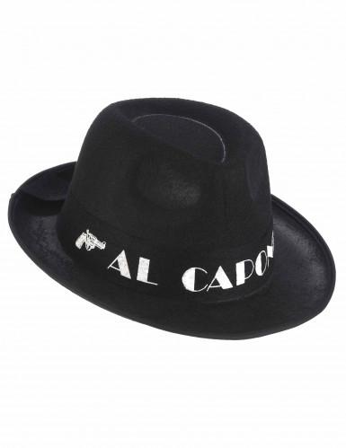 Cappello Borsalino Al Capone nero per adulto