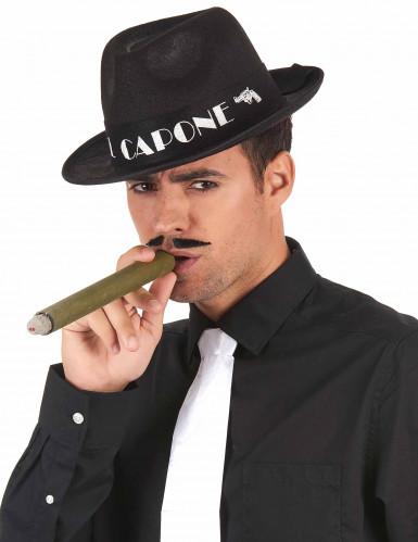 Cappello Borsalino Al Capone nero per adulto-1