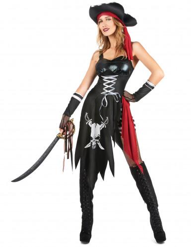 Costume pirata sexy con teschio da donna