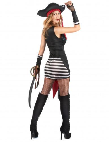 Costume pirata sexy con teschio da donna-2