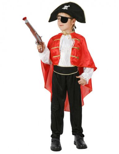 Costume da pirata corsaro per bambino con cappello