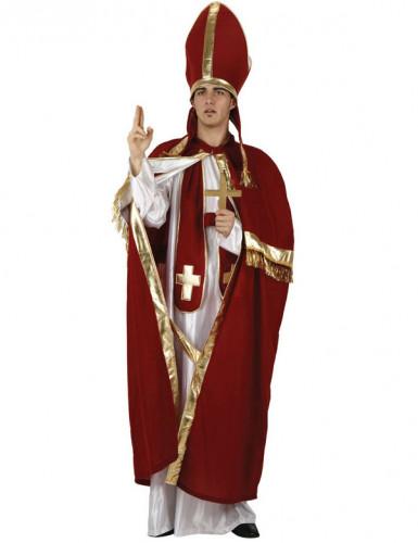 Costume papa rosso e oro per uomo