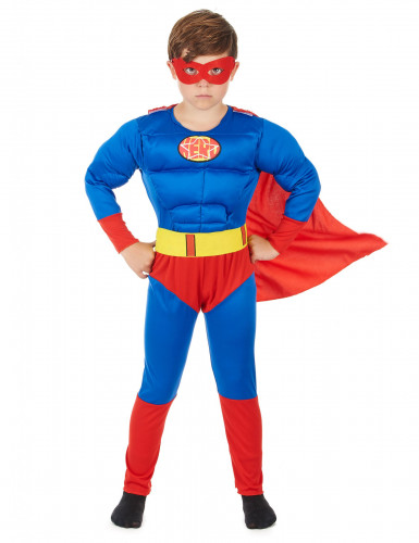 Costume da super eroe con mantello per bambino