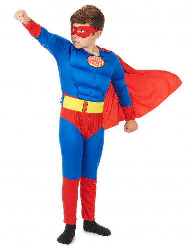Costume da super eroe con mantello per bambino-1