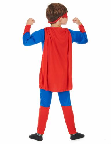 Costume da super eroe con mantello per bambino-2