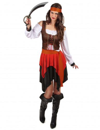 Costume da pirata con corpetto per donna