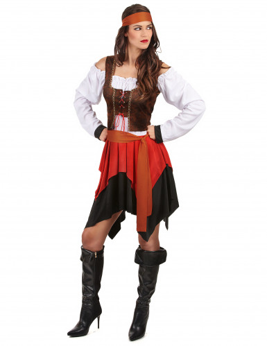 Costume da pirata con corpetto per donna-1