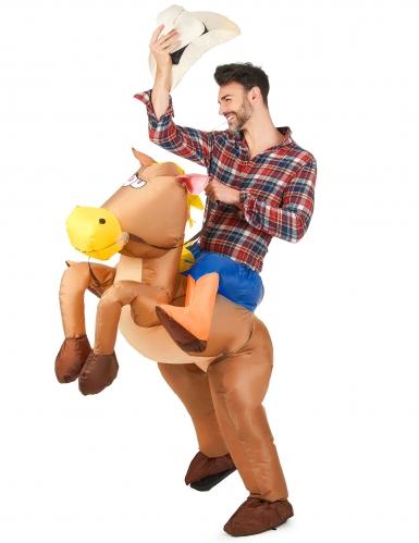Costume cavallo gonfiabile adulto-1
