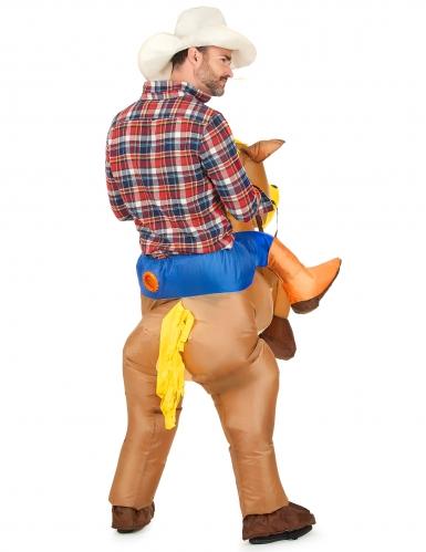 Costume cavallo gonfiabile adulto-2