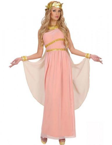 Costume da Dea greca in rosa da donna