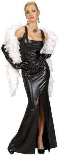 Costume cabaret nero attillato da donna