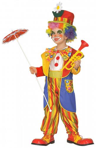 Costume da clown con righe e pois per bambino