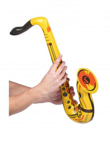 Saxofono gonfiabile giallo-1