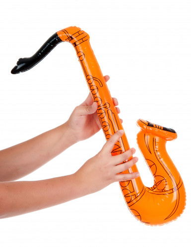 Saxofono gonfiabile arancione-1