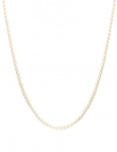 Collana lunga di perle bianche