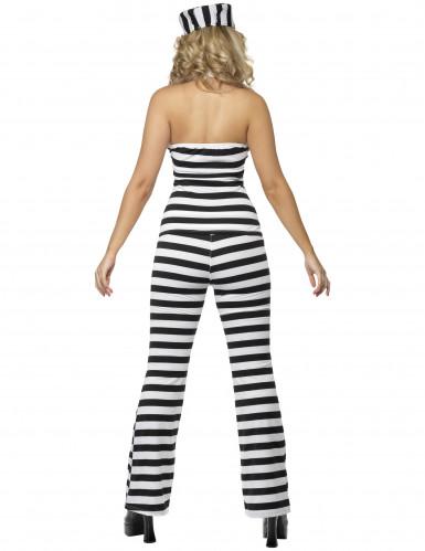 Costume da carcerata con pantaloni per donna-1