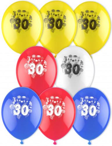 8 palloncini età stampati