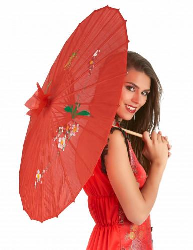 Ombrello cinese rosso-1