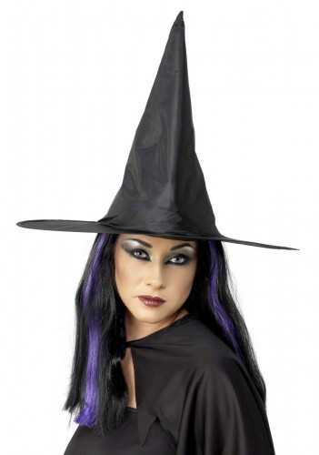 Cappello nero da strega adulto Halloween