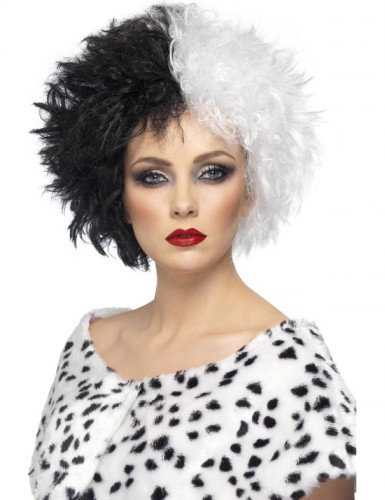 Parrucca Crudelia donna Halloween